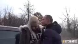 CzechHitchHikers - orálek v podání české blondýnky Katy Sky