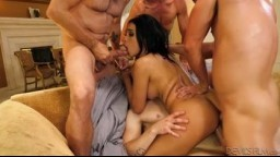 DevilsFilm - Aaliyah Hadid - White Out 7 - pořádný gangbang !