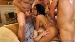 DevilsFilm - Aaliyah Hadid - White Out 7 - pořádný gangbang !